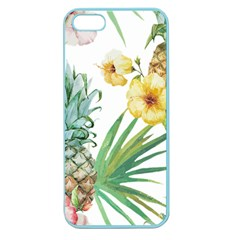 Hawaii Pineapple Wallpaper Tropical Plants Apple Seamless Iphone 5 Case (color)