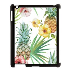 Hawaii Pineapple Wallpaper Tropical Plants Apple Ipad 3/4 Case (black)