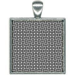 Line Pattern Square Necklace