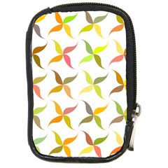 Leaf Autumn Background Compact Camera Leather Case by AnjaniArt