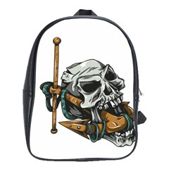Horror Skeleton Material School Bag (xl)