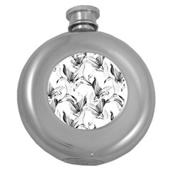 Leaves Tropical Round Hip Flask (5 Oz) by AnjaniArt