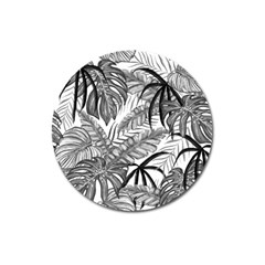 Leaves Nature Picture Magnet 3  (round)