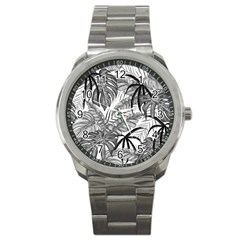 Leaves Nature Picture Sport Metal Watch
