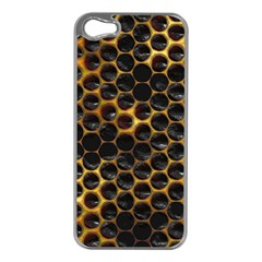 Hexagon Honeycomb Grid Pattern Apple Iphone 5 Case (silver) by AnjaniArt