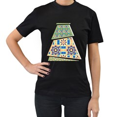 Hristmas Tree Triangle Women s T Shirt (black)