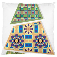 Hristmas Tree Triangle Large Cushion Case (one Side)