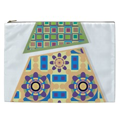 Hristmas Tree Triangle Cosmetic Bag (xxl)