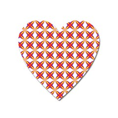 Hexagon Polygon Colorful Prismatic Heart Magnet by AnjaniArt