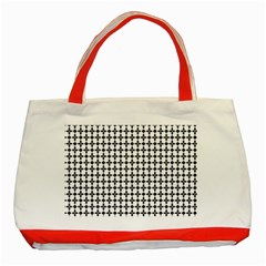 Decorative Ornamental Abstract Classic Tote Bag (red)