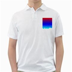Gradient Red Blue Landfill Golf Shirt by Jojostore