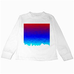 Gradient Red Blue Landfill Kids Long Sleeve T Shirts by Jojostore