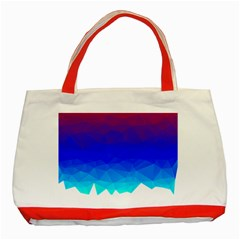 Gradient Red Blue Landfill Classic Tote Bag (red)