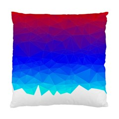 Gradient Red Blue Landfill Standard Cushion Case (one Side) by Jojostore