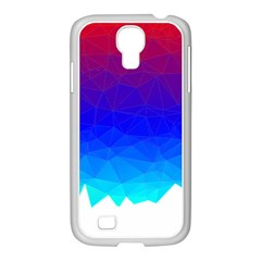 Gradient Red Blue Landfill Samsung Galaxy S4 I9500/ I9505 Case (white)