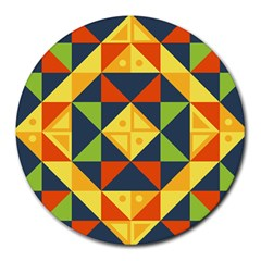 Geometric Color Round Mousepads by Jojostore