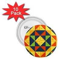 Geometric Color 1 75  Buttons (10 Pack)