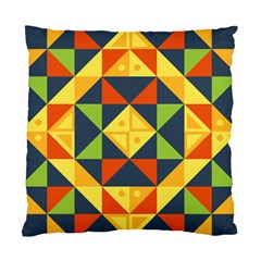 Geometric Color Standard Cushion Case (two Sides)