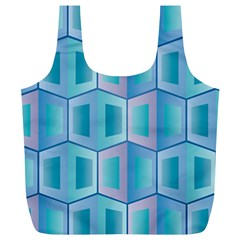 Geometric Background Pattern Full Print Recycle Bag (xl)
