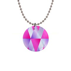Gradient Geometric Shiny Light 1  Button Necklace