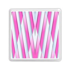 Geometric Chevron Pink Memory Card Reader (square)