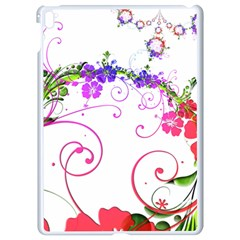 Flowers Floral Apple Ipad Pro 9 7   White Seamless Case