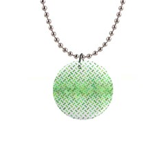 Green Pattern Curved Puzzle 1  Button Necklace