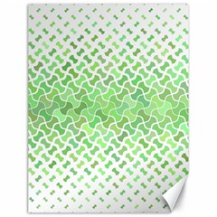 Green Pattern Curved Puzzle Canvas 18  X 24