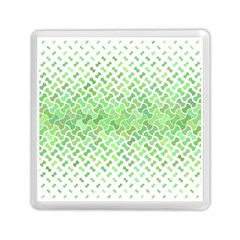 Green Pattern Curved Puzzle Memory Card Reader (square)