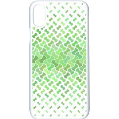 Green Pattern Curved Puzzle Apple Iphone X Seamless Case (white)