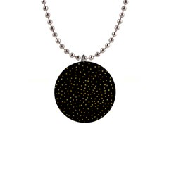 Grunge Pattern Black Triangles 1  Button Necklace
