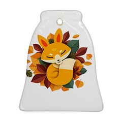 Fox Leaves Bell Ornament (two Sides) by Jojostore