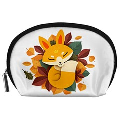 Fox Leaves Accessory Pouch (large)