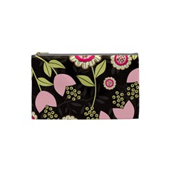 Flower Wallpaper Floral Cosmetic Bag (small)