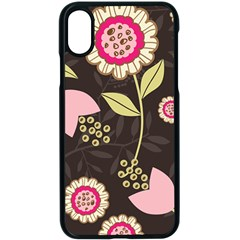 Flower Wallpaper Floral Apple Iphone X Seamless Case (black) by Jojostore