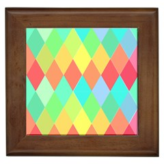 Low Poly Triangles Framed Tiles