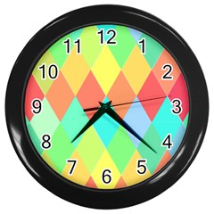 Low Poly Triangles Wall Clock (black)