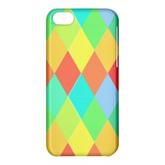 Low Poly Triangles Apple Iphone 5c Hardshell Case by Jojostore