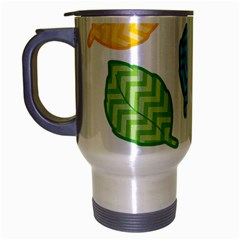 Leaf Chevron Travel Mug (silver Gray)