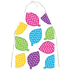Leaf Chevron Full Print Aprons by Jojostore
