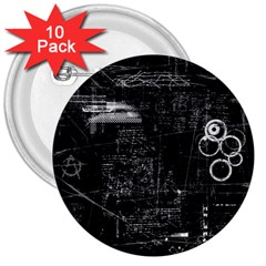 Grunde 3  Buttons (10 Pack)