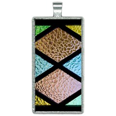 Stained Glass Soul Rectangle Necklace by WensdaiAddamns