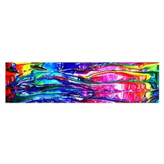 Paint Splatter   Rainbow Satin Scarf (oblong)