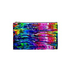 Paint Splatter   Rainbow Cosmetic Bag (small)