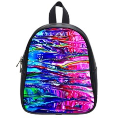 Paint Splatter   Rainbow School Bag (small) by WensdaiAddamns