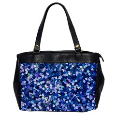 Blue Shimmer   Eco Glitter Oversize Office Handbag by WensdaiAddamns