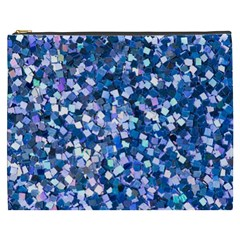 Blue Shimmer   Eco Glitter Cosmetic Bag (xxxl)
