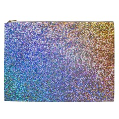 Pastel Rainbow Shimmer   Eco  Glitter Cosmetic Bag (xxl)