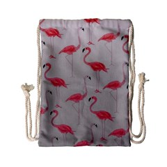 Pink Flamingos Drawstring Bag (small)