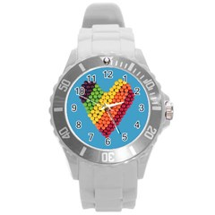 What A Sweet Heart Round Plastic Sport Watch (l) by WensdaiAddamns